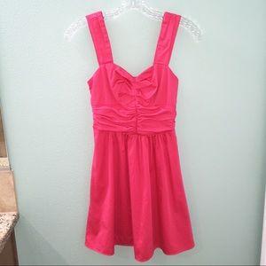 Express Women's Coral Pink Cut Out Mini Dress
